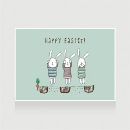 Happy Easter Wise Bunnies No.1